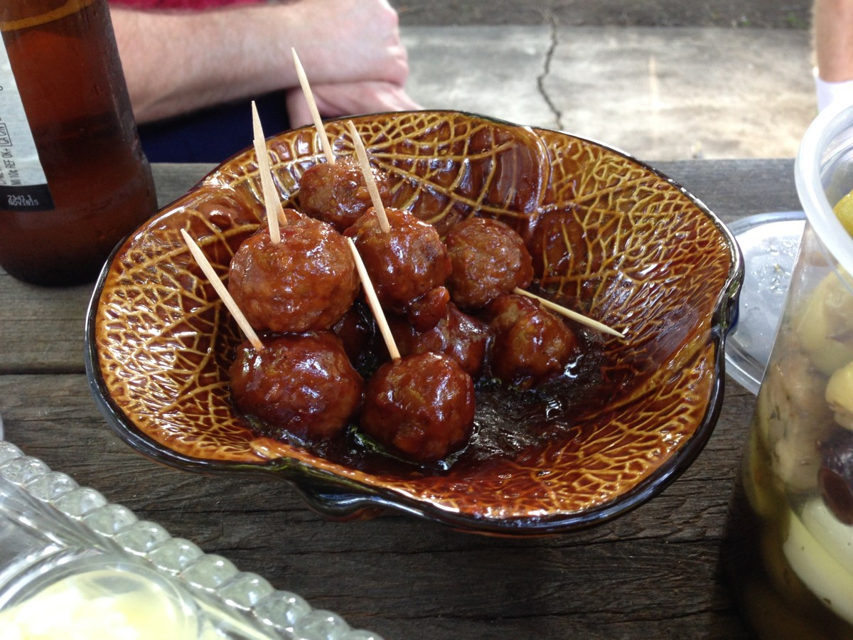 Honey BBQ Grape Jelly Meatballs! (by Ang -- that's me!))