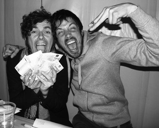 Robert und Valentin, Rocken am Brocken Festival, backstage mit Gage