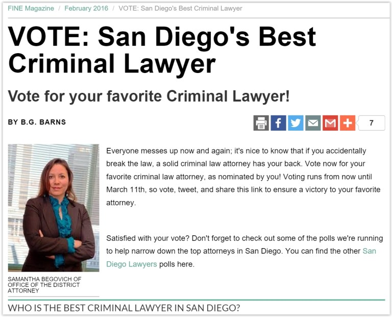 Lauren Angeles - Best San Diego Criminal Defense Lawyer.