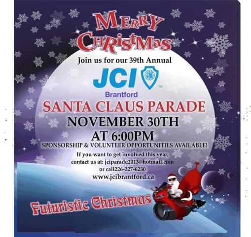 Brantford Santa Claus Parade, Christmas, Parade,