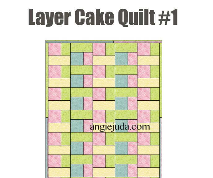 Layer Cake Quilt Block Size : Fabric