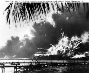 USS Shaw explodes at Pearl Harbor, December 7th 1941