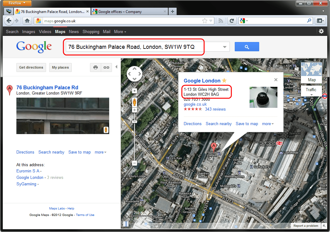 O Oh The Irony Google Maps Gives Wrong Address For Offices