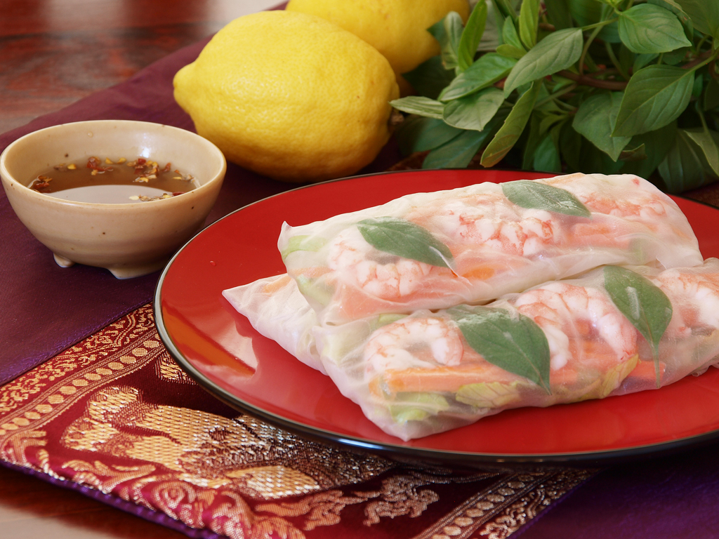 goi cuon also known as summer roll salad roll fresh spring roll or ...