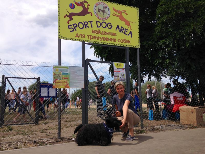 """Заняття на майданчику """"Sport DOG Area"""" на розі вул. Ревуцького та Здолбунівська"""