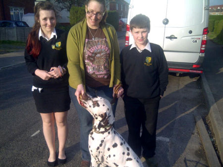Harvey the pet chocolate dalmation travels from UK to Switzerland