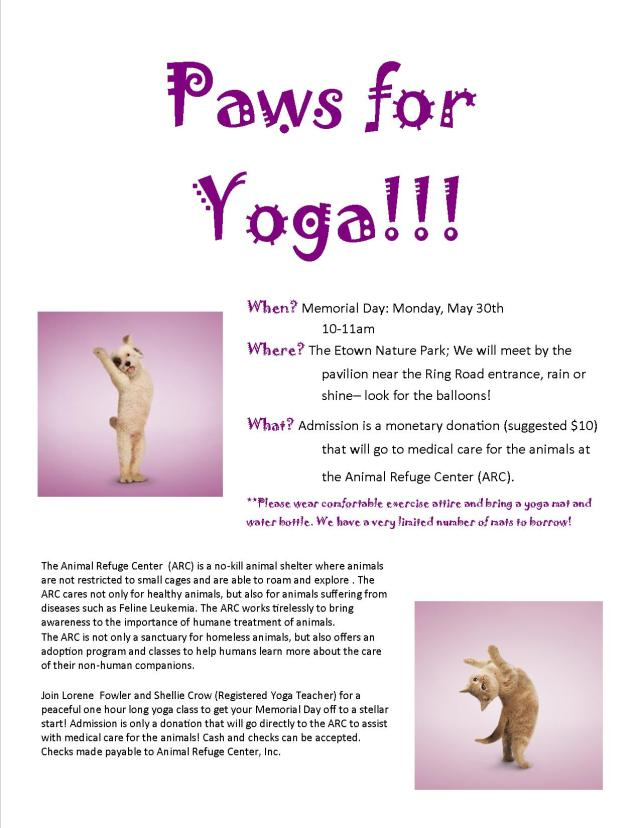 paws for yoga