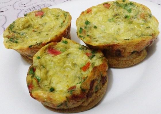Fritata de queso y vegetales