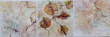 <h5>Autumn Triptych ll</h5><p>Watercolor on Yupo </p>