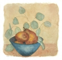 <h5>Pears with Eucalyptus</h5><p>Watercolor on handmade paper  SOLD</p>