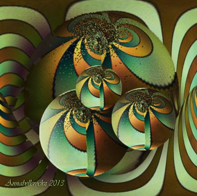 fractal Art Annabellerockz green cube