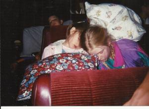 AnnaLeah Rebekah and Levi wiped out on road trip