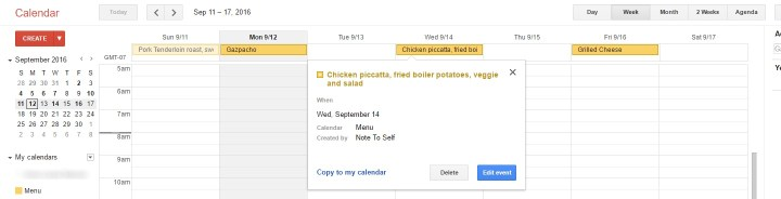 menu planning, how to plan a menu