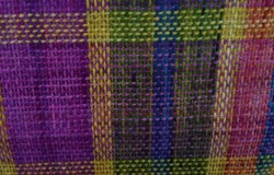 Plain weave on Lisa Kobeck's Rigid Heddle loom, in Blue Moon Fiber arts new yarn, Rustica. I am campaigning for a kit to be organized to weave this, because it is just gorgeous.