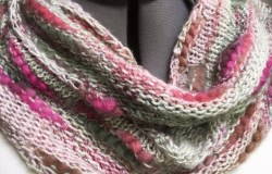 The finished cowl! Soft, cozy, and not too warm for the spring that it represents.