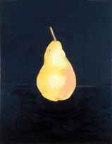 showing how painting a pear is done