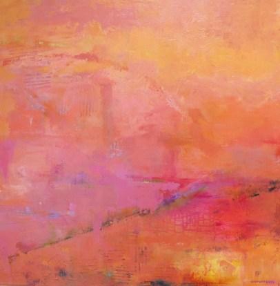 Painting showing variations of orange.