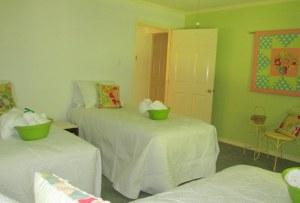 Hidden Star Retreat Lemon Grass bedroom - sneak peek
