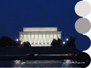 Lincoln Memorial at night from Potomac River