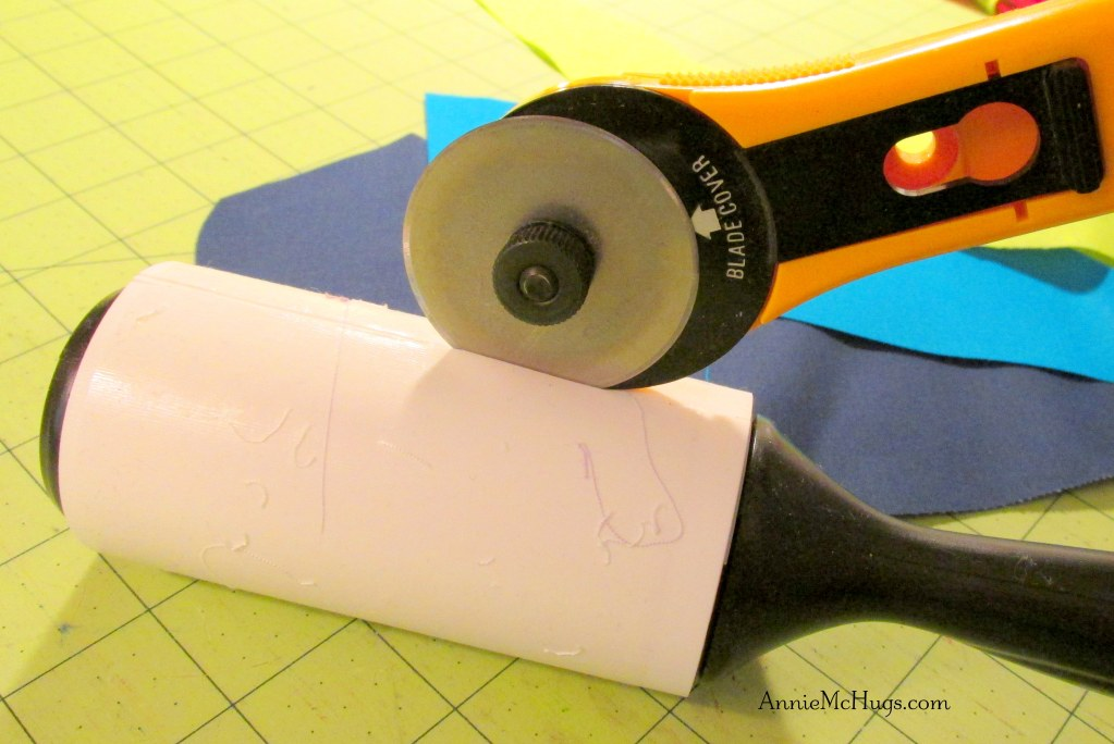 DIY:  Lint Roller Repurposed into a Thread Catcher
