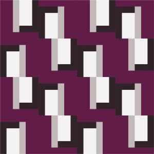 Barn Door Block Whole Quilt Maroon