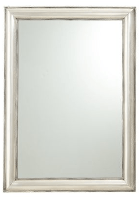Pottery Barn Silver Beaded Mirror - $399.00