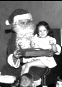 Santa and little girl