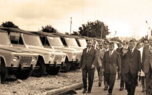 Nicolae Ceausescu vizita masini Aro