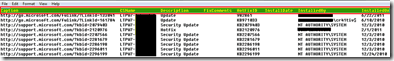 wmi sccm configmgr sccm  SCCM How to find the list of Software Updates patches installed