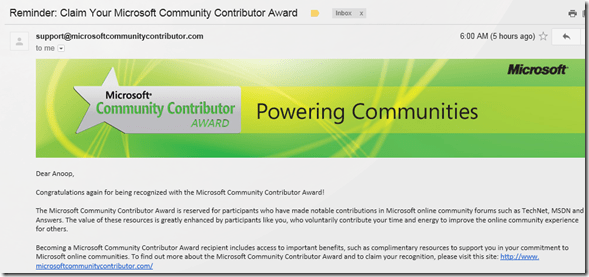 sccm configmgr sccm awards  Again Yet another time Community Contributor Award 2012 for ConfigMgr