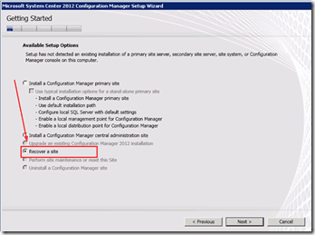 system center configuration manager system center 2012 configuration manager sccm 2012 sccm recovery configmgr sccm cm2012 backup  SCCM ConfigMgr 2012 Primary Site Server and Database Recovery Part 2