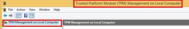 Trusted Platform Module (TPM) Management