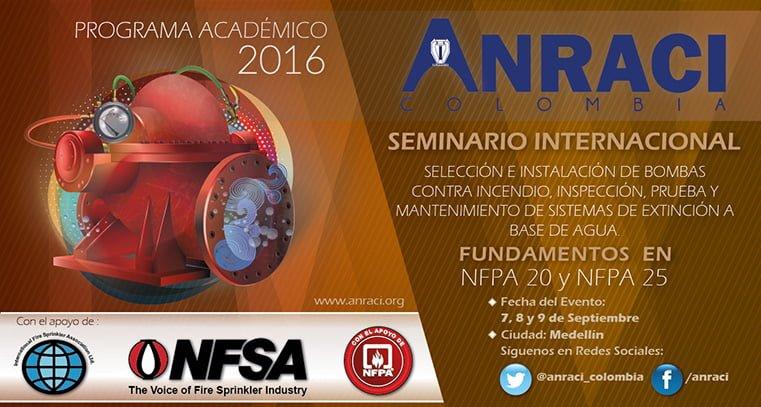 Seminario Internacional fundamentado en NFPA 20 y NFPA 25