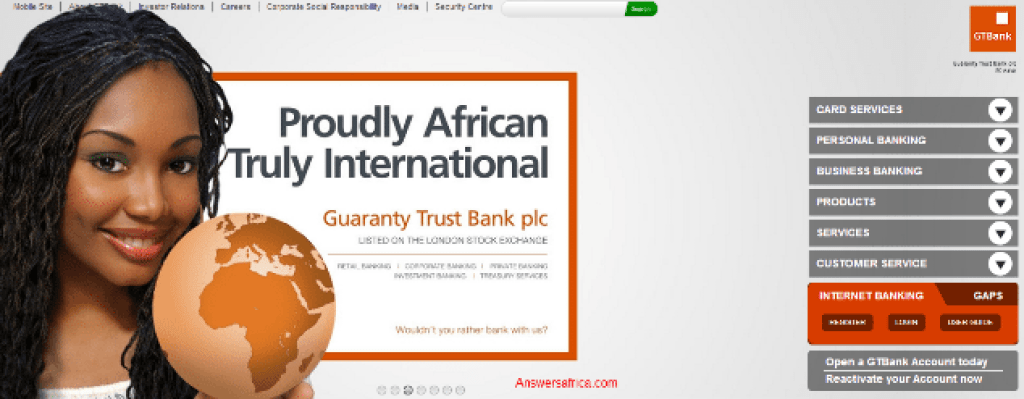 Guaranty Trust Bank Plc - How To Open A Guaranty Trust Bank (GTBank) Account while in Nigeria