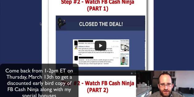 FB Cash Ninja Review – $1,500 checks from posting ads on Facebook