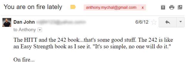 dan john email to anthony mychal
