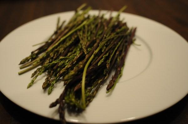 wild asparagus on plate, montenegro