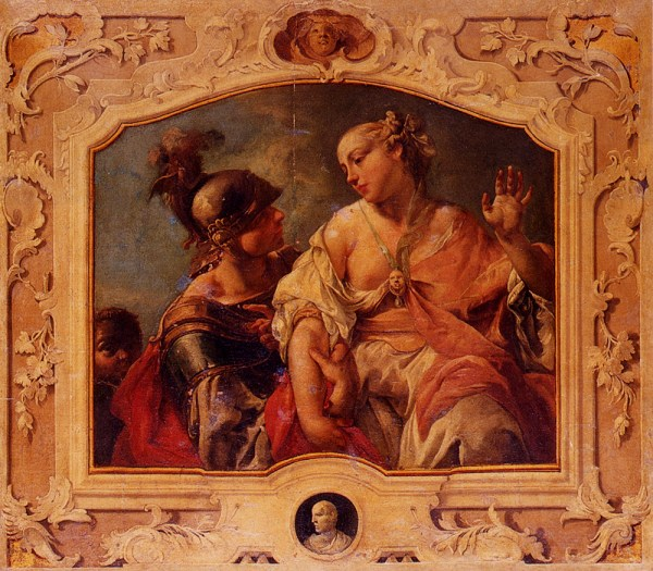 Jacopo Guarana (1720-1808) Paris And Helen Of Troy