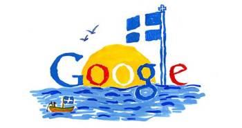 """""""Ζωγράφισα το doodle με ένα μεγάλο ήλιο, τη θάλασσα και την ελληνική σημαία γιατί για εμένα αυτά είναι η Ελλάδα."""""""