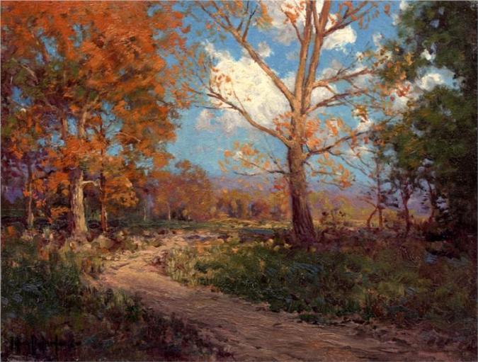 October Sunlight από τον ιμπρεσιονιστή Robert Julian Onderdonk -1911
