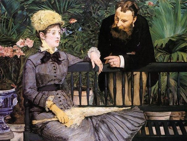 Πιτσιλωτοί πίνακες με δυστυχισμένες φιγούρες, είναι δημιουργίες του Manet.