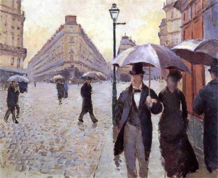 Παρίσι, μια βροχερή μέρα Gustave Caillebotte 1877