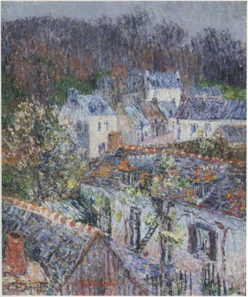 Βροχή στο Pont-Aven - Gustave Loiseau