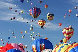 Albuquerque International Balloon Fiesta: Αερόστατα στον ουρανό