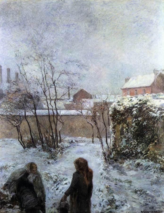 Paul GAUGUIN,  Ο Κήπος το χειμώνα, 1883