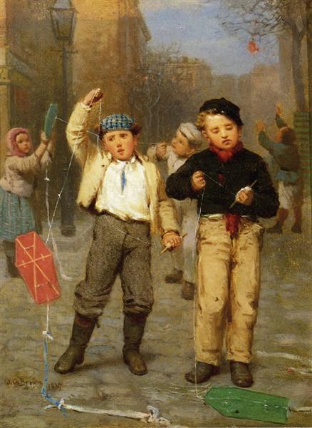 Πετώντας Χαρταετούς - John George Brown - 1867