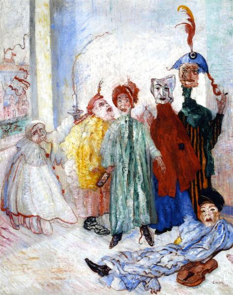 παράξενοι μασκοφόροι James Ensor - 1892