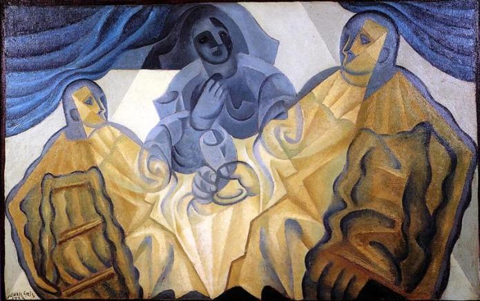 οι 3 μασκοφόροι -Juan Gris - 1923