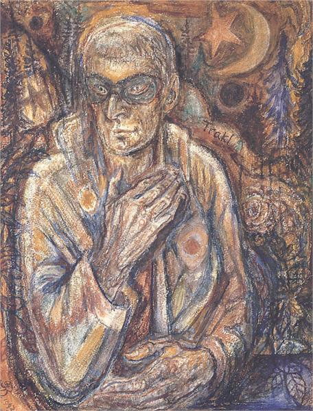 Μασκοφόρος/ Πορτραίτο (Georg Trakl) - Albert Bloch 1943