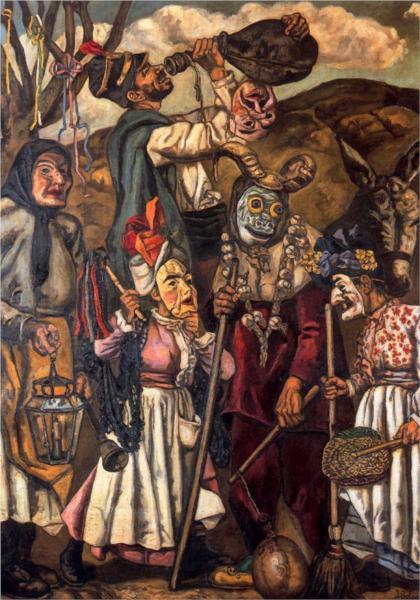 μασκαράδες με  τον γάιδαρο- Jose Gutierrez Solana 1936